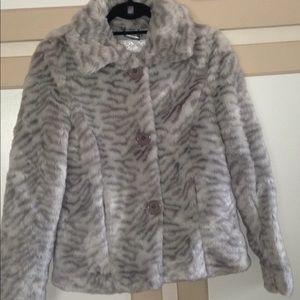 Faux fur coat. Perfect condition